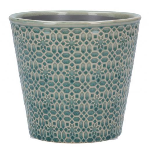 Blue Mosaic Ceramic Plant Pot