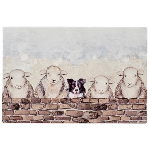 Sheepdog & Sheep Table Mat