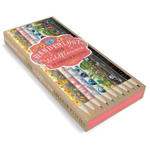 Wanderlust & Wildflowers Coloured Pencils & Notecards Set