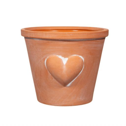 Large Terracotta Planter With Heart