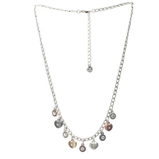 Jana Mixed Plate Mini Heart & Charm Necklace