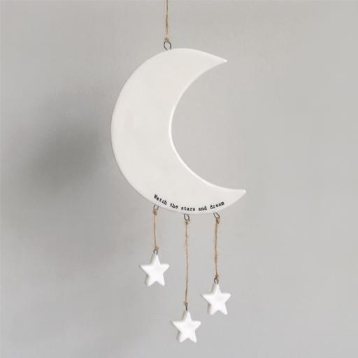 Porcelain Moon & Stars Mobile By East Of India