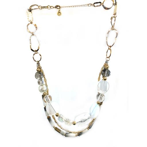 Rosa Triple Glam Row Necklace