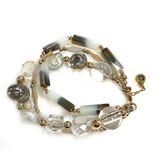 Rosa Triple Glam Row Bracelet
