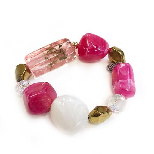 Jemma Blush Pink Chunky Bead Bracelet