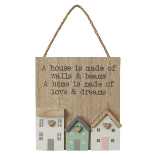 3D Wooden House Sign