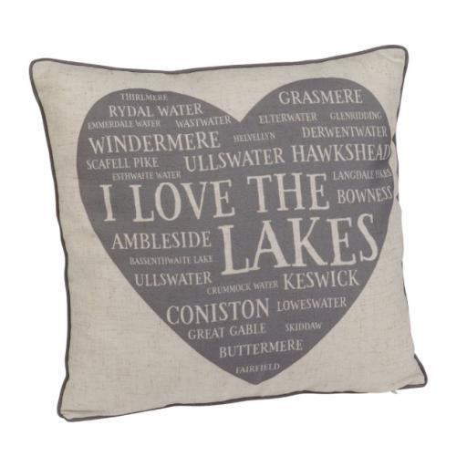 The Lakes Heart Cushion