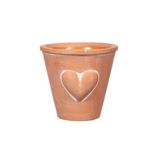 Mini Terracotta Planter With Heart
