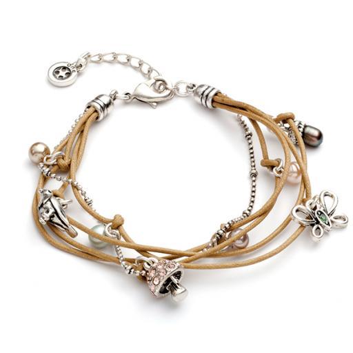 Lia Multi Charm & Bead Bracelet