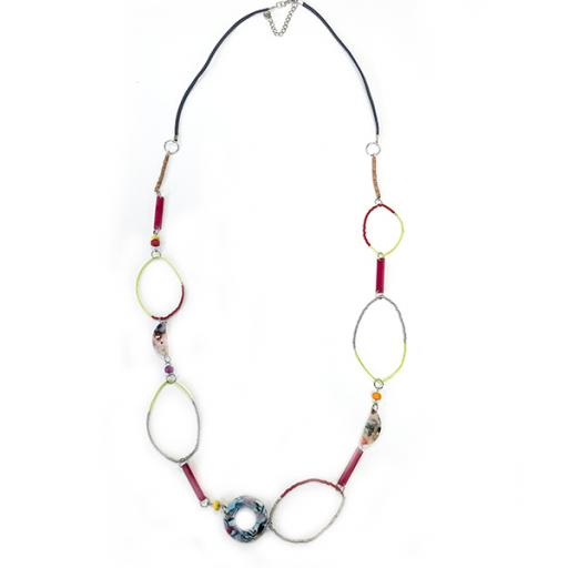 Daisy Bright Multi Shapes & Beads Necklace