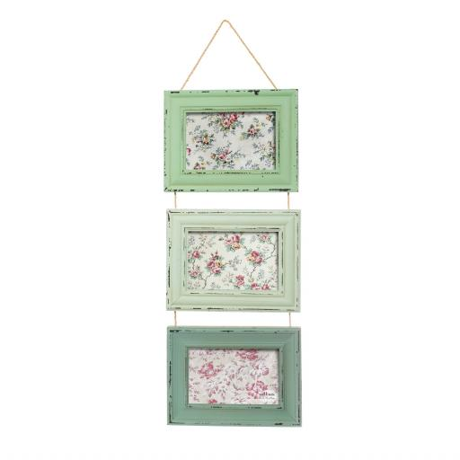 Delilah Green Triple Photo Frame