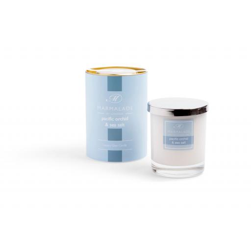 Pacific Orchid & Sea Salt Large Glass Candle By Marmalade