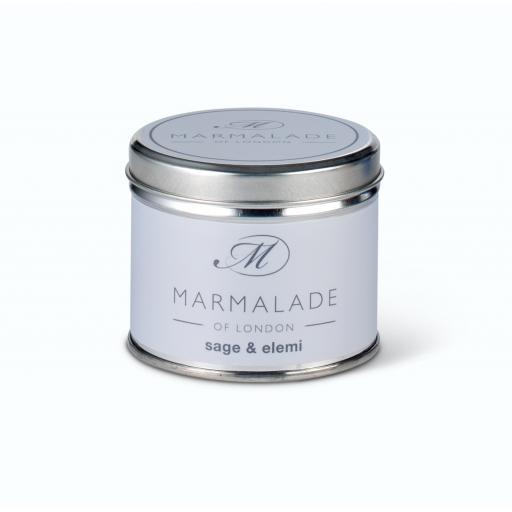 Sage & Elemi Candle In A Tin By Marmalade