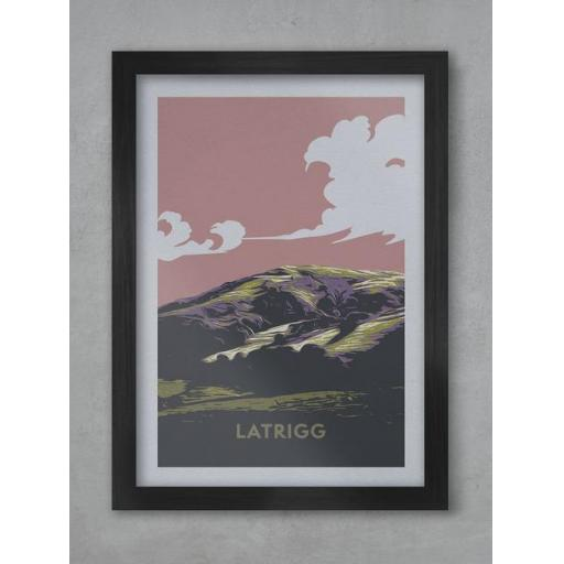 Latrigg Sunset A3 Framed Print