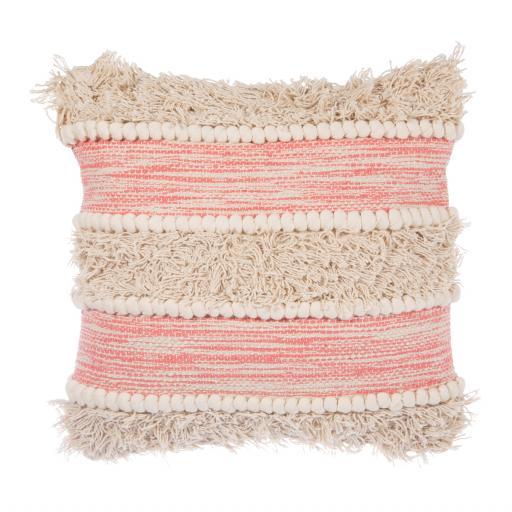 Pink Stripe Scandi Style Cushion