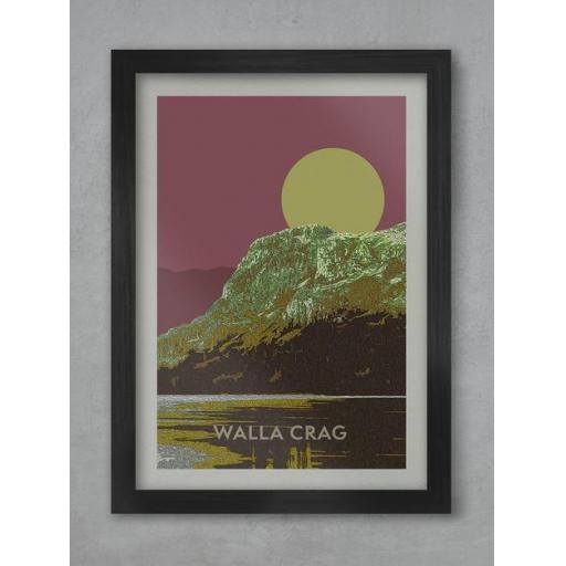 Walla Crag Sunset A3 Framed Print