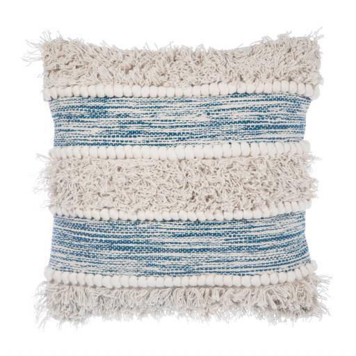 Blue Stripe Scandi Style Cushion