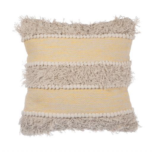 Yellow Stripe Scandi Style Cushion