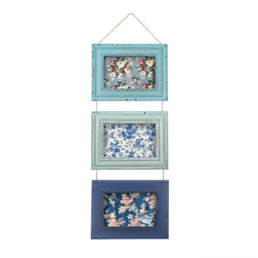Delilah Blue Triple Photo Frame
