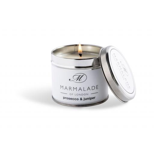 Prosecco & Juniper Candle In A Tin By Marmalade