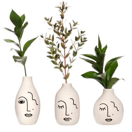Mini Abstract Face Vase