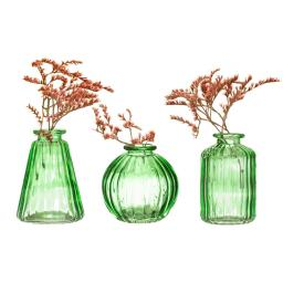 GLEE040_B_Green_Glass_Bud_Vases_Set_3_Lifestyle.jpg