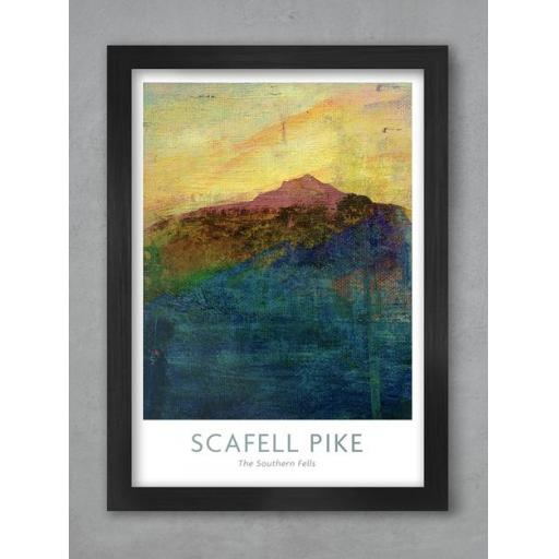 Framed A3 Size Scafell Pike Print