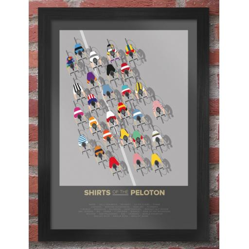 Framed A3 Size The Shirts Of The Peloton Print