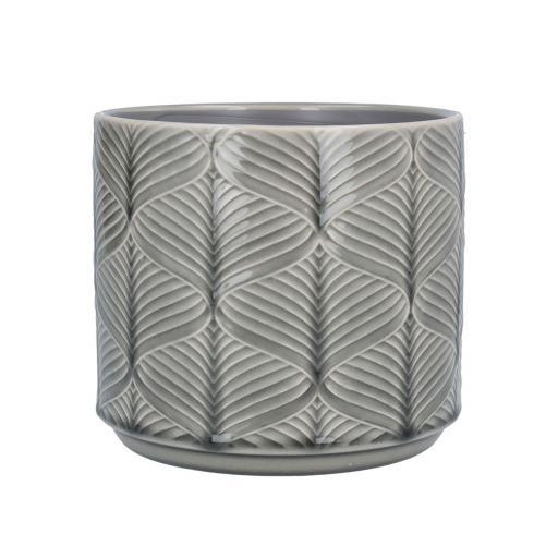 Grey Wavy Ceramic Planter