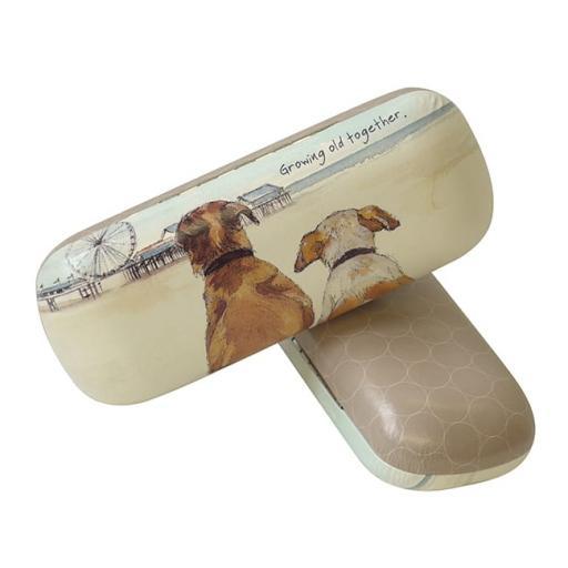 Growing Old Together Dog Glasses Case