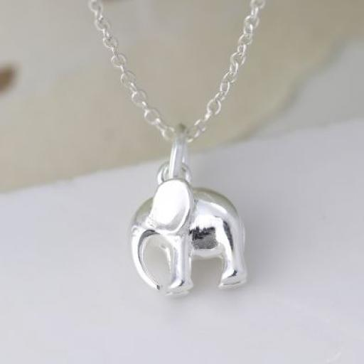 Peace Of Mind Sterling Silver Elephant Necklace